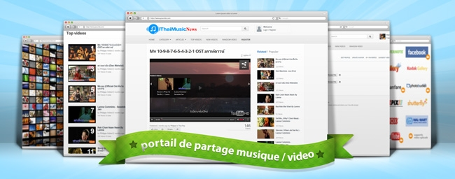 ThaiMusicNews : Partage de clips audio/video , creation de listes